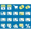 Shopping and bank card icon set vector image