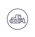 snowplow icon linear vector image vector image