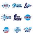 social mass media logo emblems and poster vector image vector image
