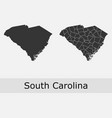 south carolina map counties outline vector image vector image