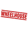 square grunge red wheelhouse stamp vector image vector image