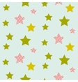Stars on night sky boy seamless pattern vector image vector image
