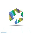 stylish white comet and fire in the cube success vector image