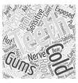 Taking Care Of Sensitive Teeth Word Cloud Concept vector image vector image
