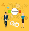 teamwork concept with business people vector image