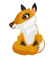 Toy cartoon fox isolated animal vector image vector image