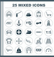 vehicle icons set collection of metro taxi vector image