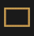 vintage picture frame isolated on black background vector image