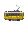 vintage tram sketch vector image