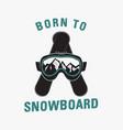 winter camping adventure logo emblem vector image vector image