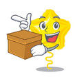 with box stars ballon isolated in the character vector image