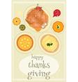 Happy Thanksgiving food vector image