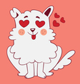 Cute Dog in Love vector image