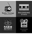 Sound logo set vector image