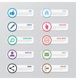 Web site icons set Social media design elements vector image