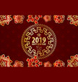 2019 chinese new year yellow pig vector image vector image