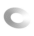 abstract ring of black dots halftone effect with vector image vector image