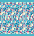 abstract triangle seamless pattern isometric grid vector image vector image