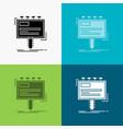 ad advertisement advertising billboard promo icon vector image vector image
