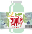 Apple juice product label vector image vector image