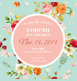 baby shower invitation floral greeting card vector image vector image