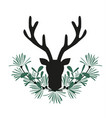 background with deer antlers vector image vector image