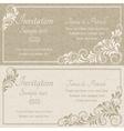 Baroque invitation beige vector image