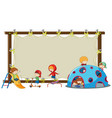 children on blank board vector image vector image