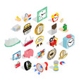 coin icons set isometric style vector image vector image