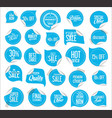 collection modern sale stickers and tags 4 vector image vector image
