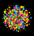 colorful bright circle confetti round background vector image vector image