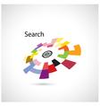 Creative circle abstract logo design vector image vector image
