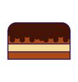 cute cake cartoon vector image vector image