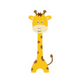 cute cartoon trendy design little giraffe african vector image vector image