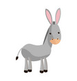 cute donkey cute cartoon manger image vector image vector image