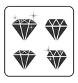 Diamond icon 4 vector image