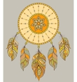 dream catcher on gray background vector image vector image