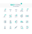 easy icons 42e gettng money vector image vector image