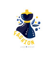 fashion logo design fashion clothes shop vector image vector image