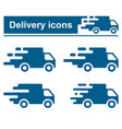 fast delivery icon set vector image vector image
