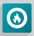 flat fire icon vector image vector image