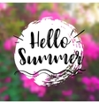 Floral Background with Lettering Hello Summer vector image vector image