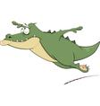Flying crocodile vector image vector image