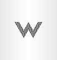 geometric black letter w logo icon symbol vector image