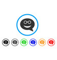 glasses smiley message icon vector image