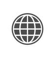 globe glyph icon or world concept vector image