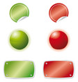 green red web elements vector image vector image