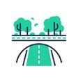 green road - modern single line icon vector image vector image
