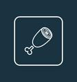 ham icon line symbol premium quality isolated vector image