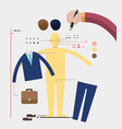 hand design character with fashion prop character vector image
